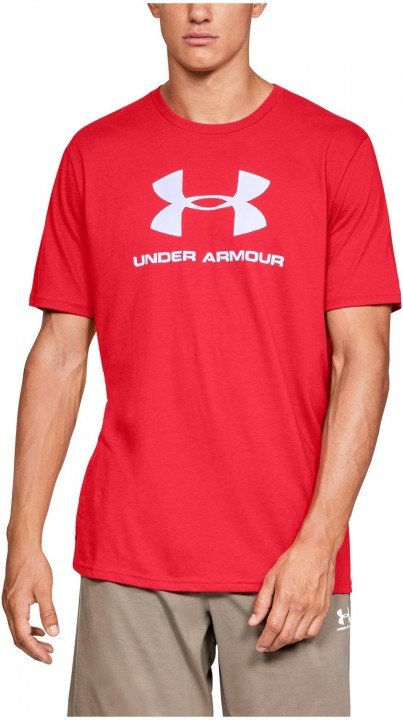 under armour sportstyle logo short sleeve red