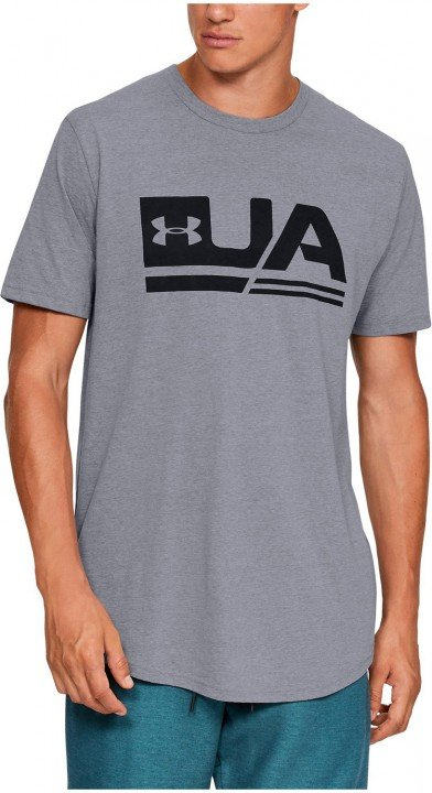 under armour sportstyle short sleeve drop hem grey