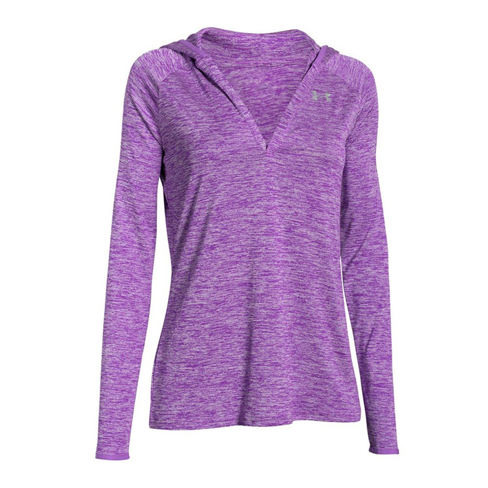 under armour tech ls hoody twist damska fioletowa