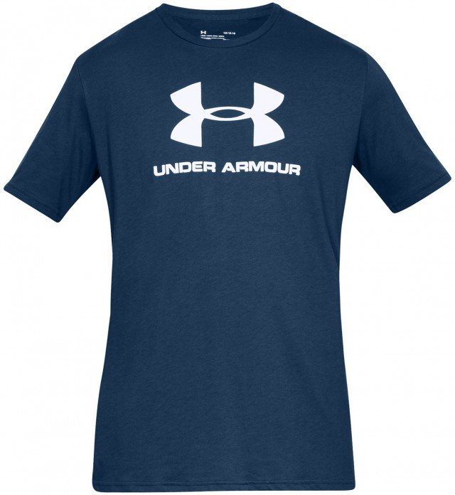 under armour sportstyle logo short sleeve navy