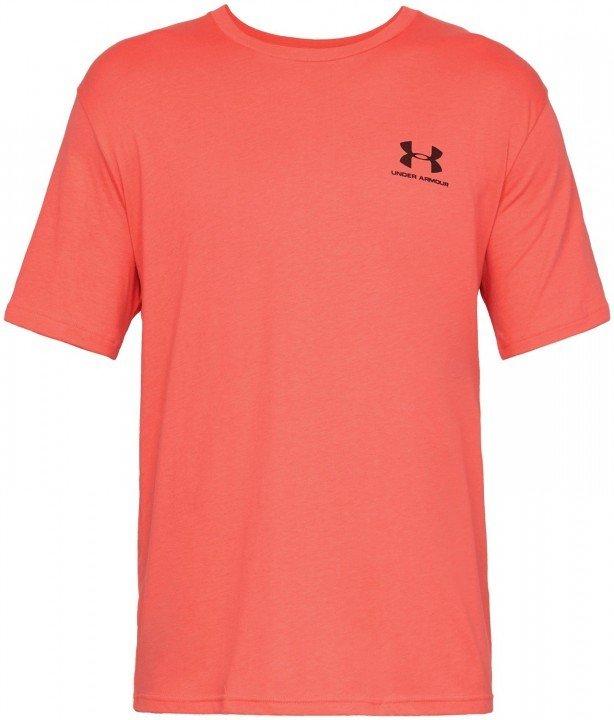 under armour sportstyle left chest short sleeve orange
