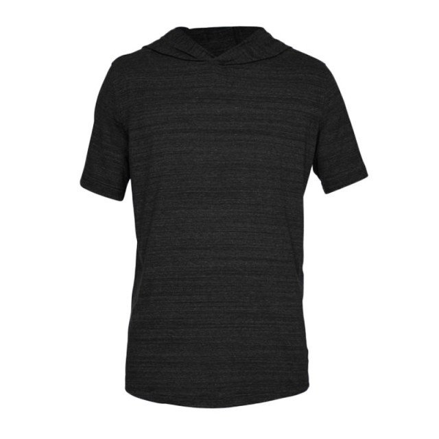 under armour sportstyle short sleeve hoodie black