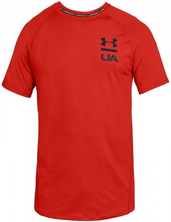 under armour mk1 short sleeve logo graphic red