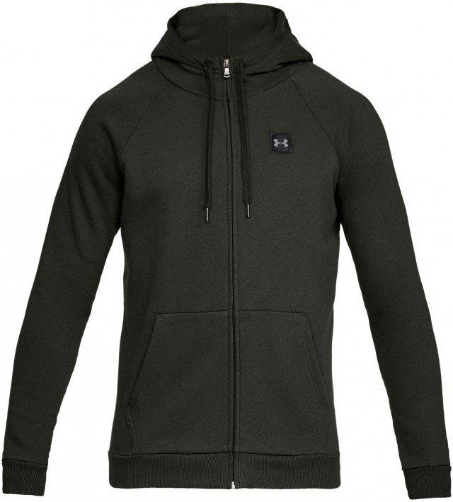 under armour rival fleece full zip hoodie green