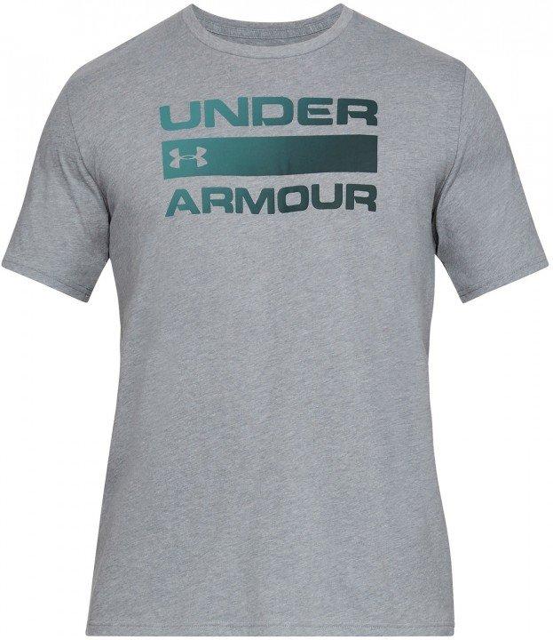 under armour ua team issue wordmark short sleeve grey