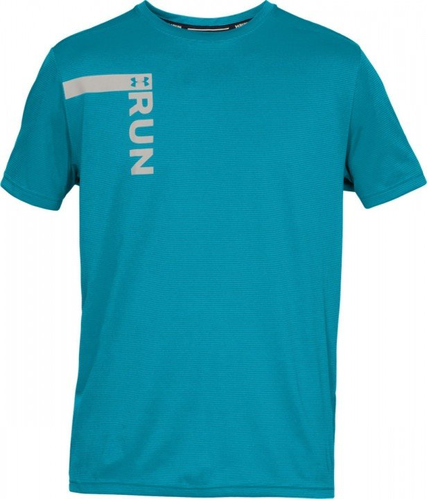 under armour ua run tall graphic short sleeve blue