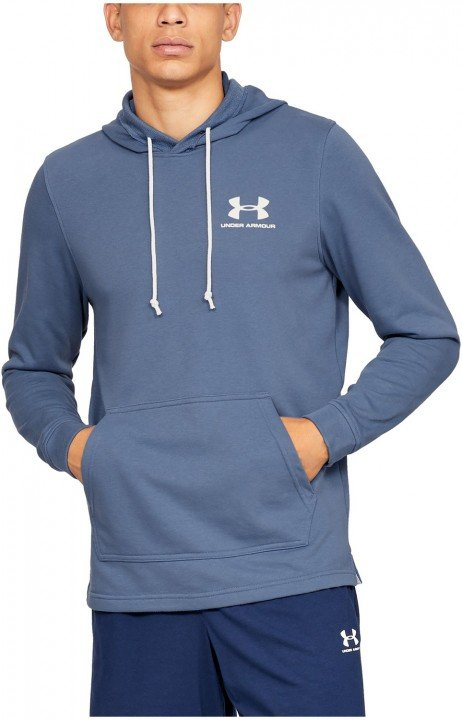 under armour ua sportstyle terry hoodie blue