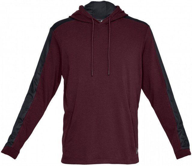 under armour threadborne terry hoodie red