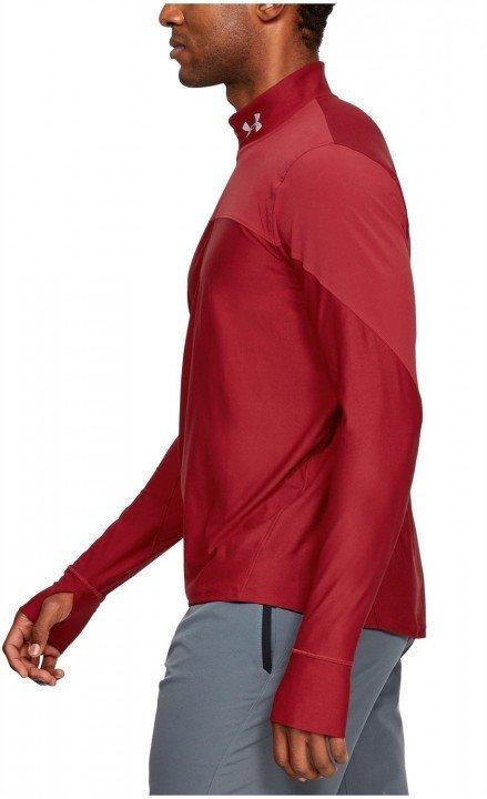under armour ua qualifier half zip red