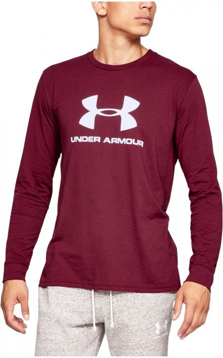 under armour sportstyle logo ls red