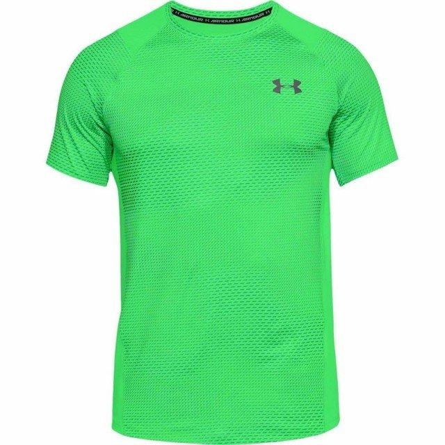 under armour raid 2.0 short sleeve left chest green