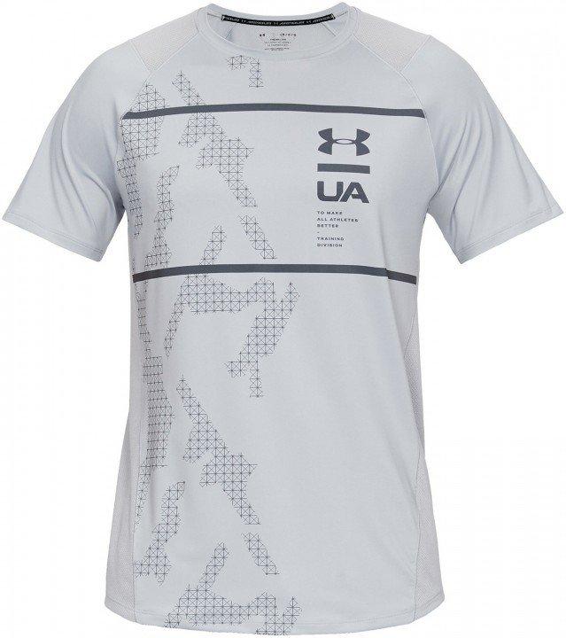 under armour mk1 short sleeve q2 printed grey