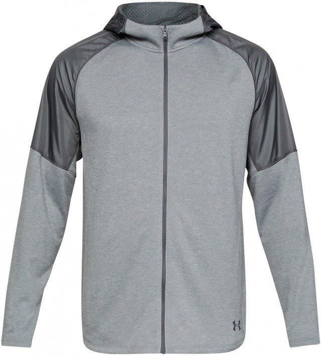 under armour mk1 terry fz hoodie gray