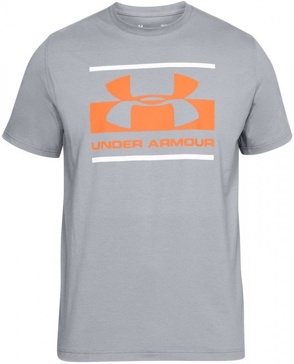 under armour blocked sportstle logo grey