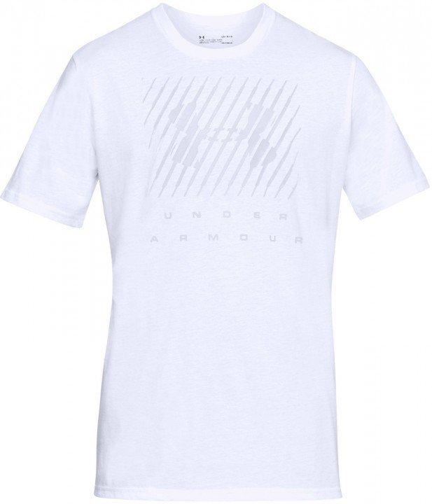 under armour ua branded big logo short sleeve white