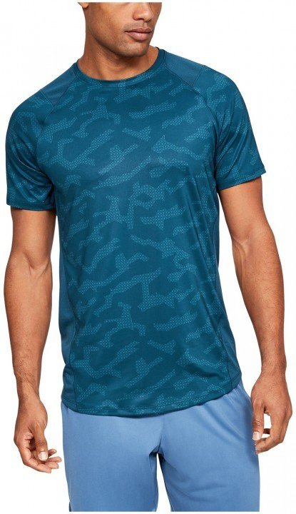 under armour ua mk1 short sleeve printed blue