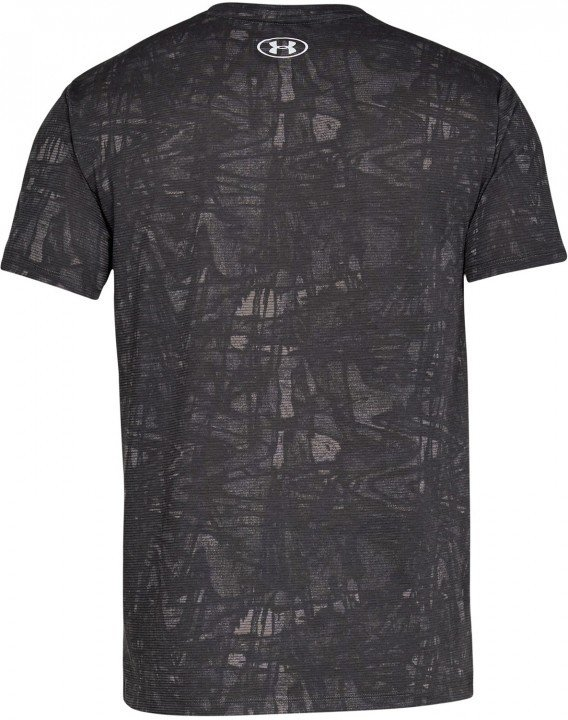 under armour streaker printed short sleeve crew grey