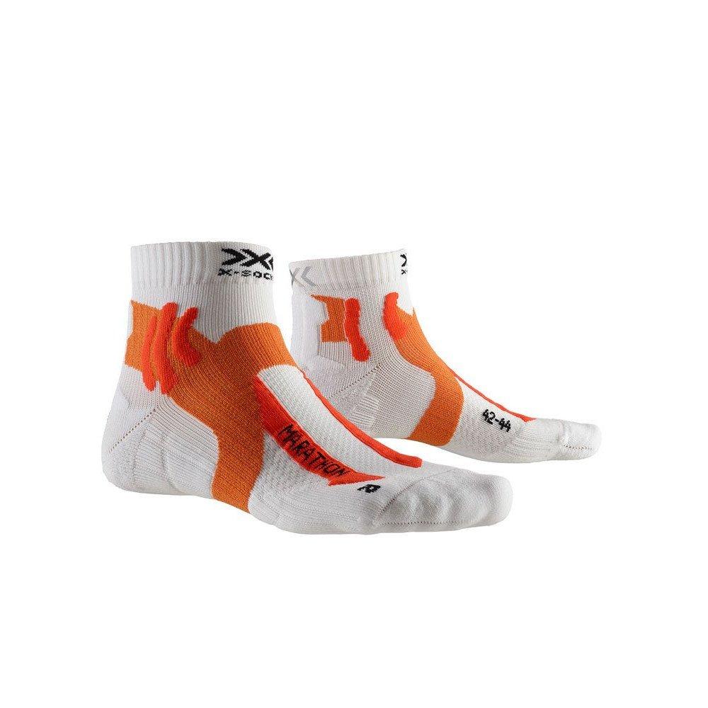x-socks marathon 4.0 pomarańczowo-białe