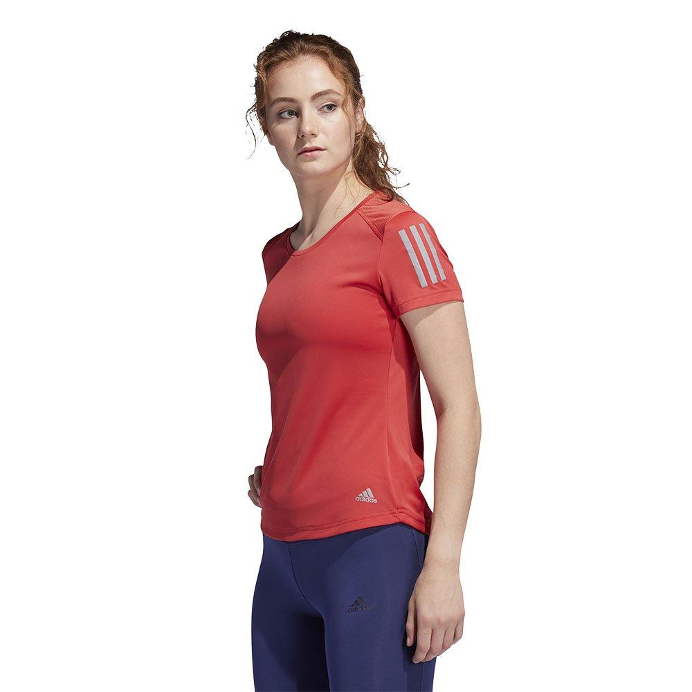 adidas own the run tee w czerwona