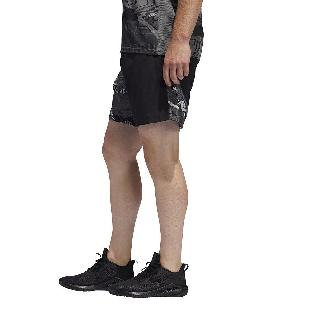 adidas run it graphic shorts m czarno-szare