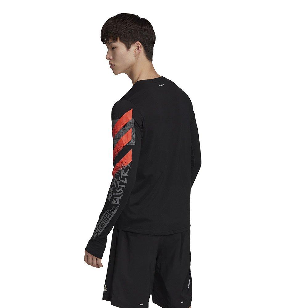 adidas fast graphic tee m czarna