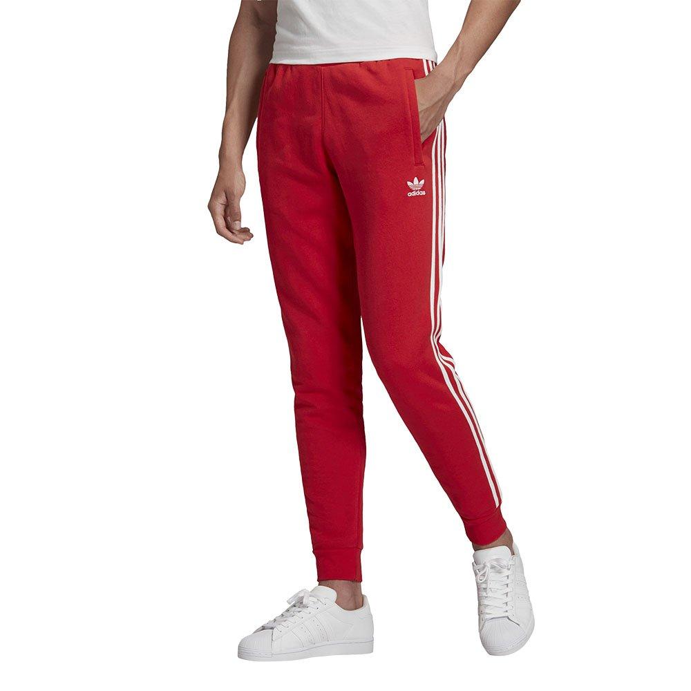 adidas 3-stripes pants męskie czerwone