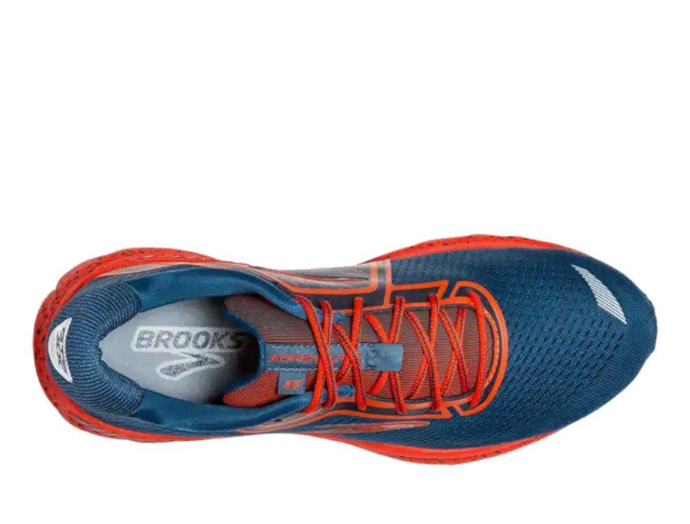 brooks adrenaline gts 20 m niebiesko-pomarańczowe