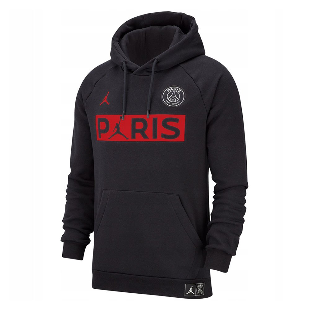 jordan x paris saint-germain fleece hoodie (bq8350-011)
