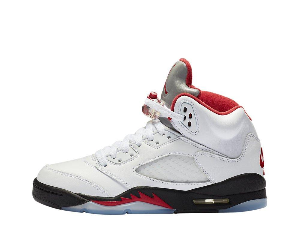 """air jordan 5 retro (gs) """"fire red"""" (440888-102)"""