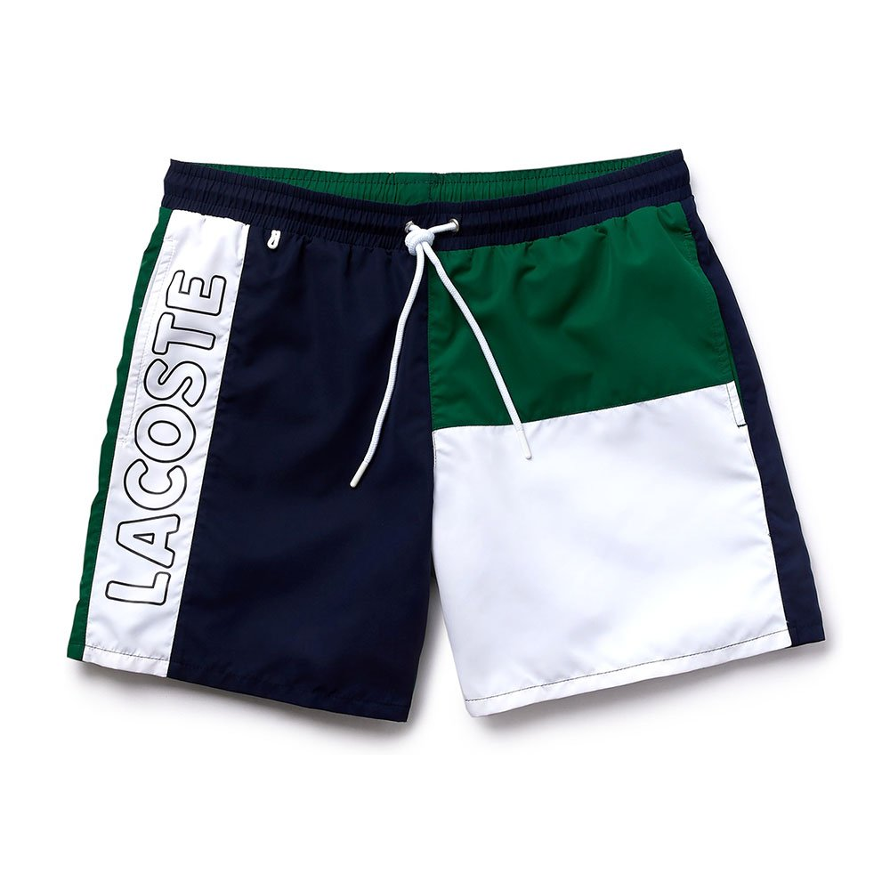lacoste colourblocked swim shorts (mh6276-a41)