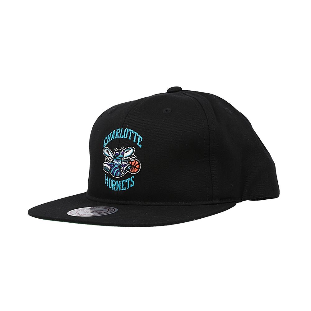 mitchell & ness team logo snapback hornets (intl462-chahor-blk)