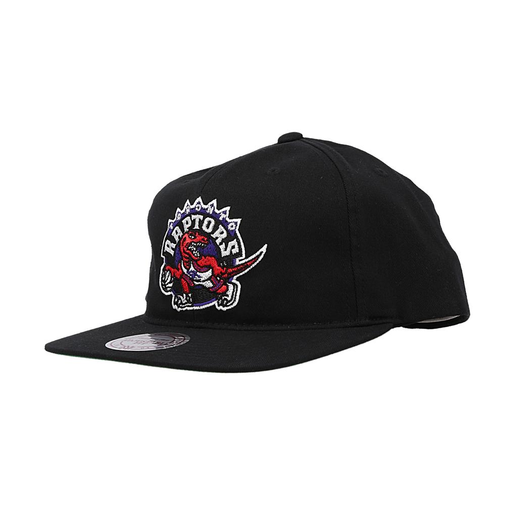 mitchell & ness team logo snapback raptors  (intl462-torrap-blk)