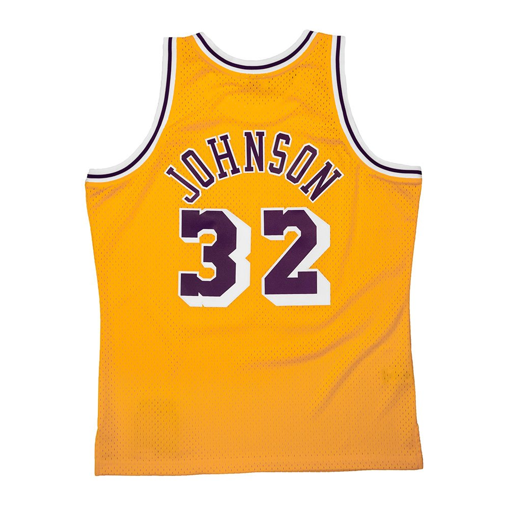 mitchell & ness nba swingman jerseys los angeles lakers - magic johnson # 32 (smjygs18175-lalltgd8)