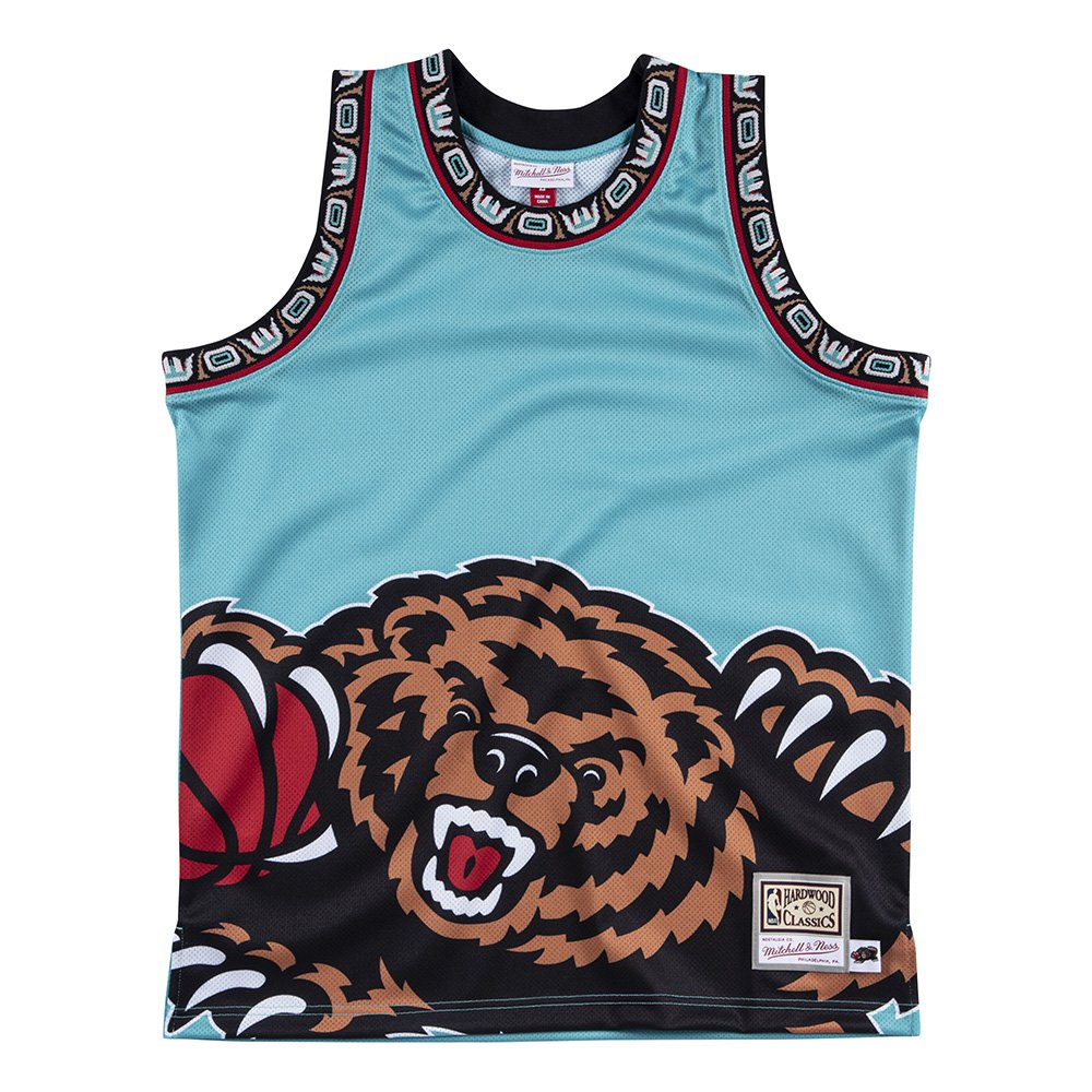 mitchell & ness team tank top vancouver grizzlies (mstkbw19068-vgrteal)