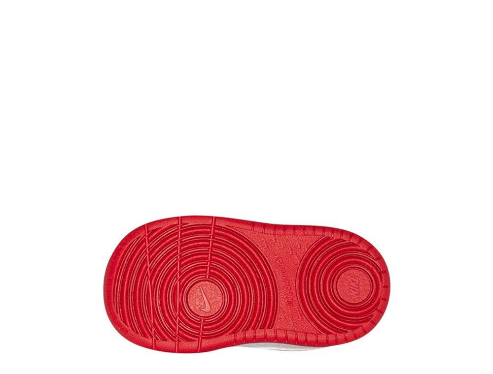 nike court borough low 2 (tdv) biało-czerwone