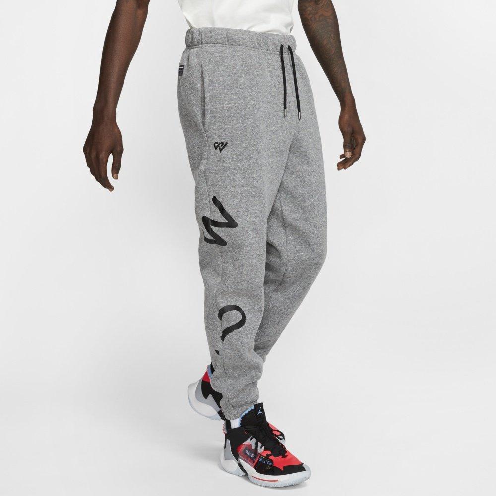 jordan why not? men's fleece trousers  (cw4263-091)