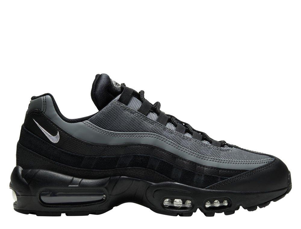 nike air max 95 essential męskie szaro-czarne (ci3705-002)