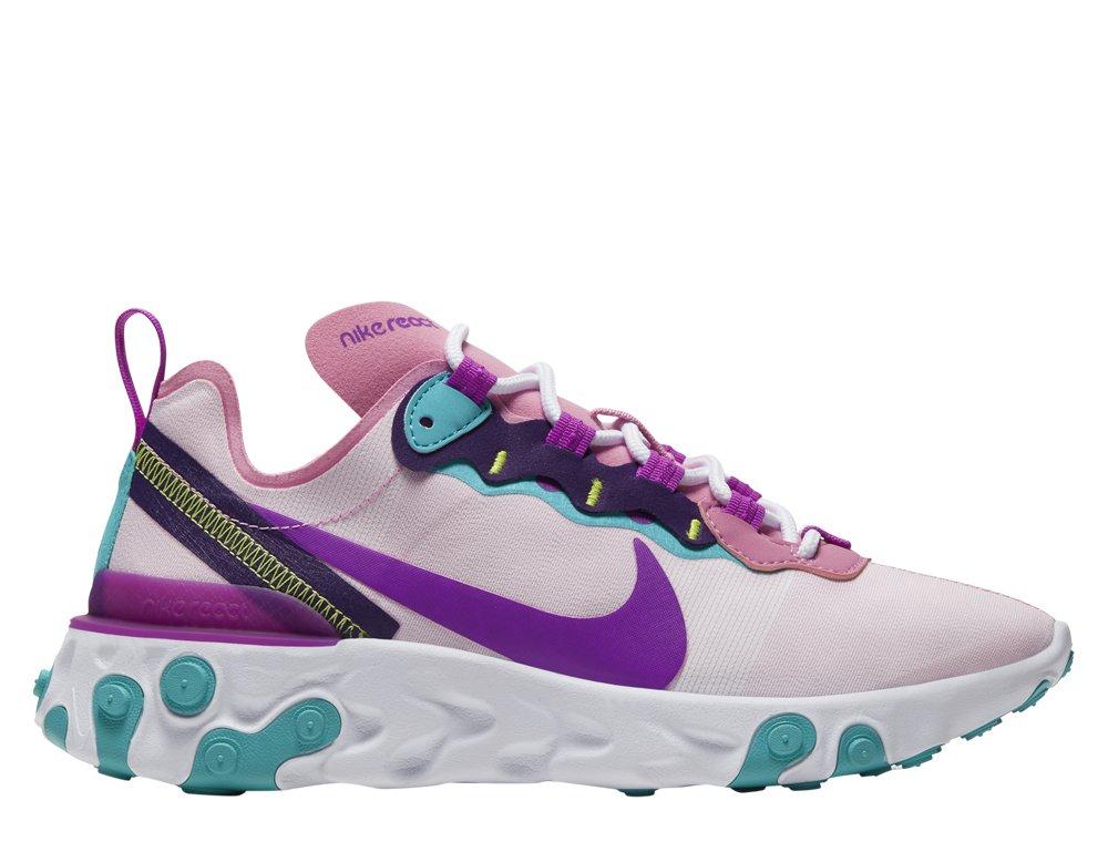 Nike W React Element 55 Damskie Różowe (BQ2728 603)