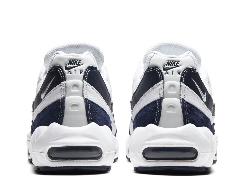 air nike buty męskie granatowo białę