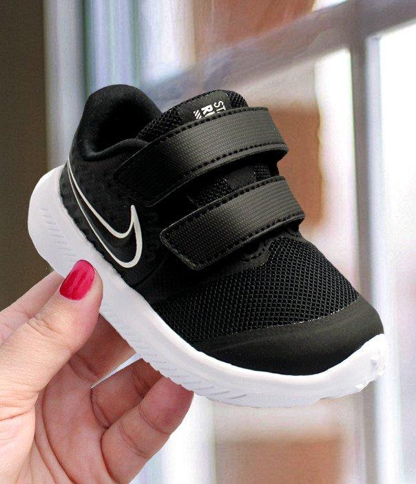 Nike Star Runner 2 (TDV) czarno białe