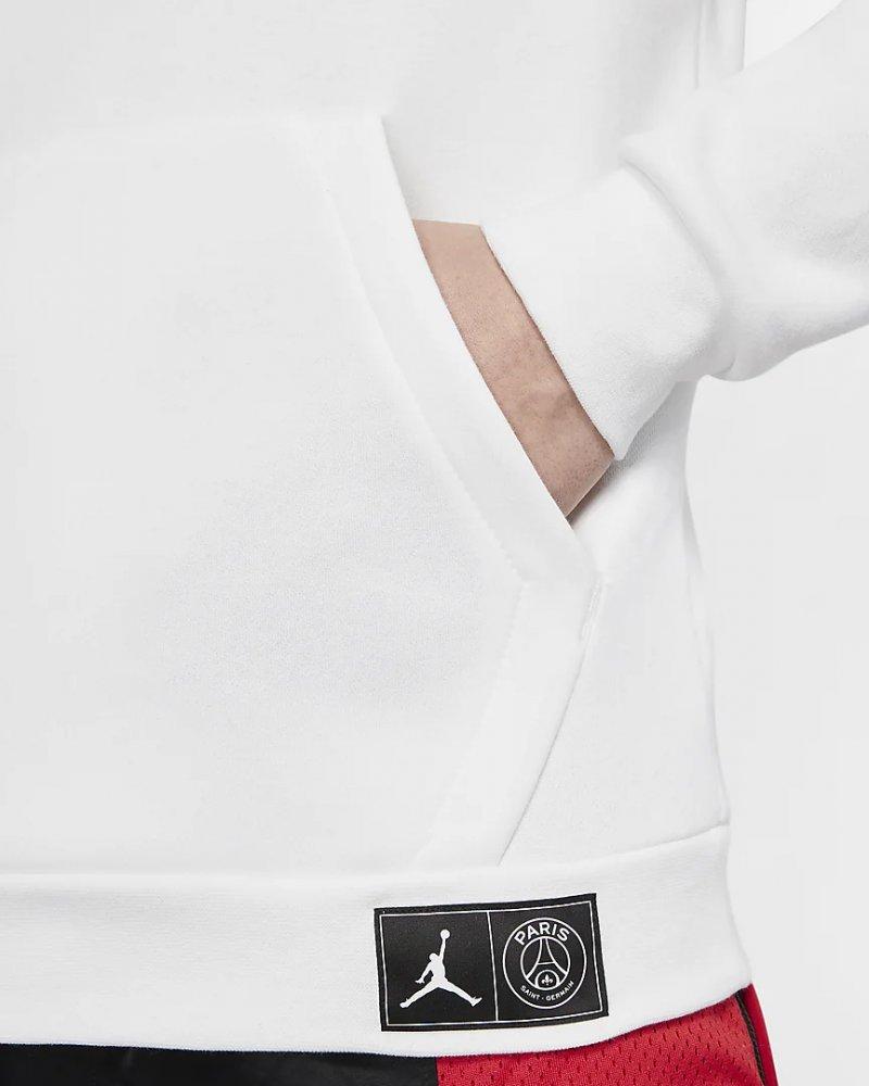 jordan x paris saint-germain fleece hoodie (bq8350-100)