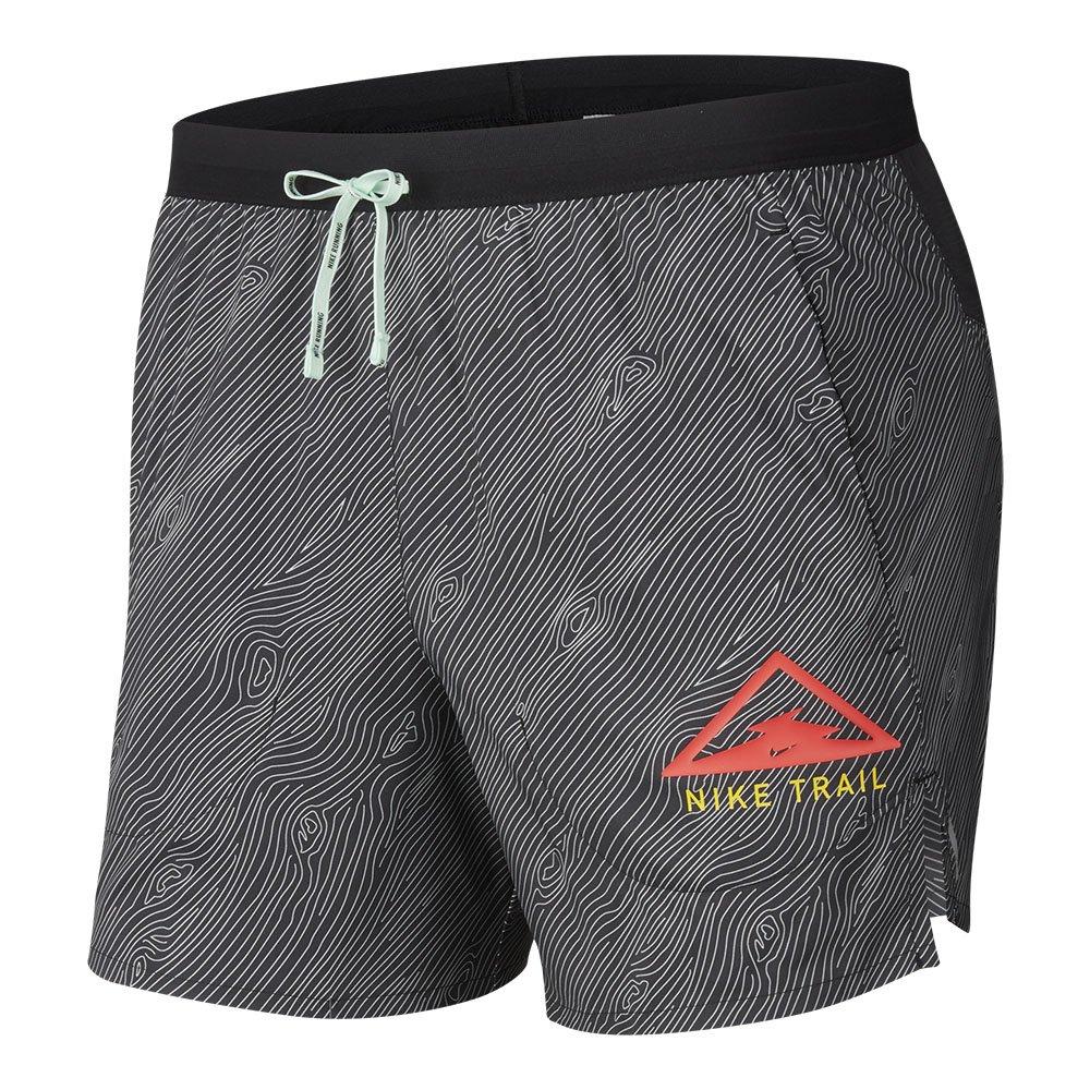 nike flex stride trail running shorts m szarno-czarne