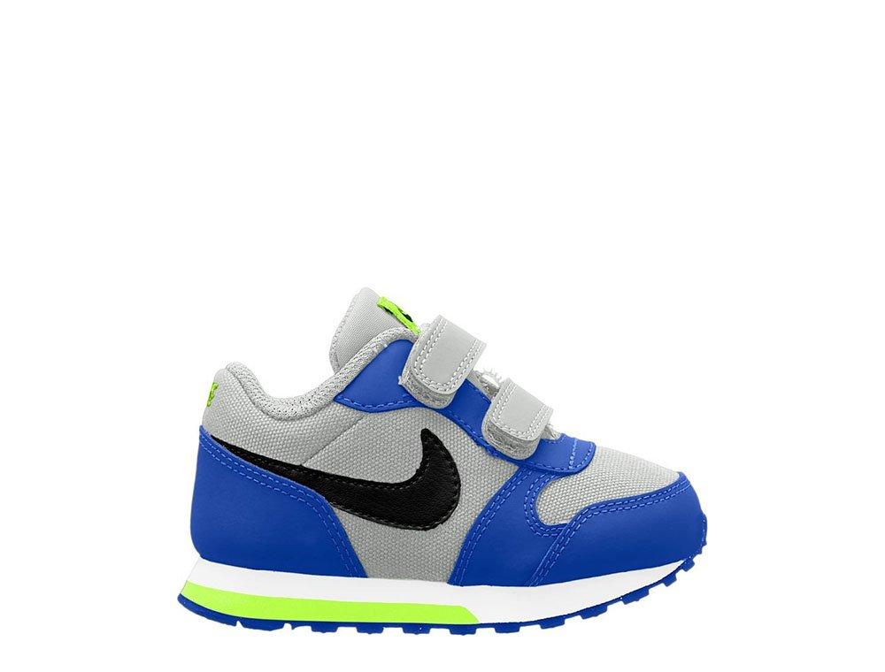 nike md runner 2 (tdv) dziecięce szaro-niebieskie