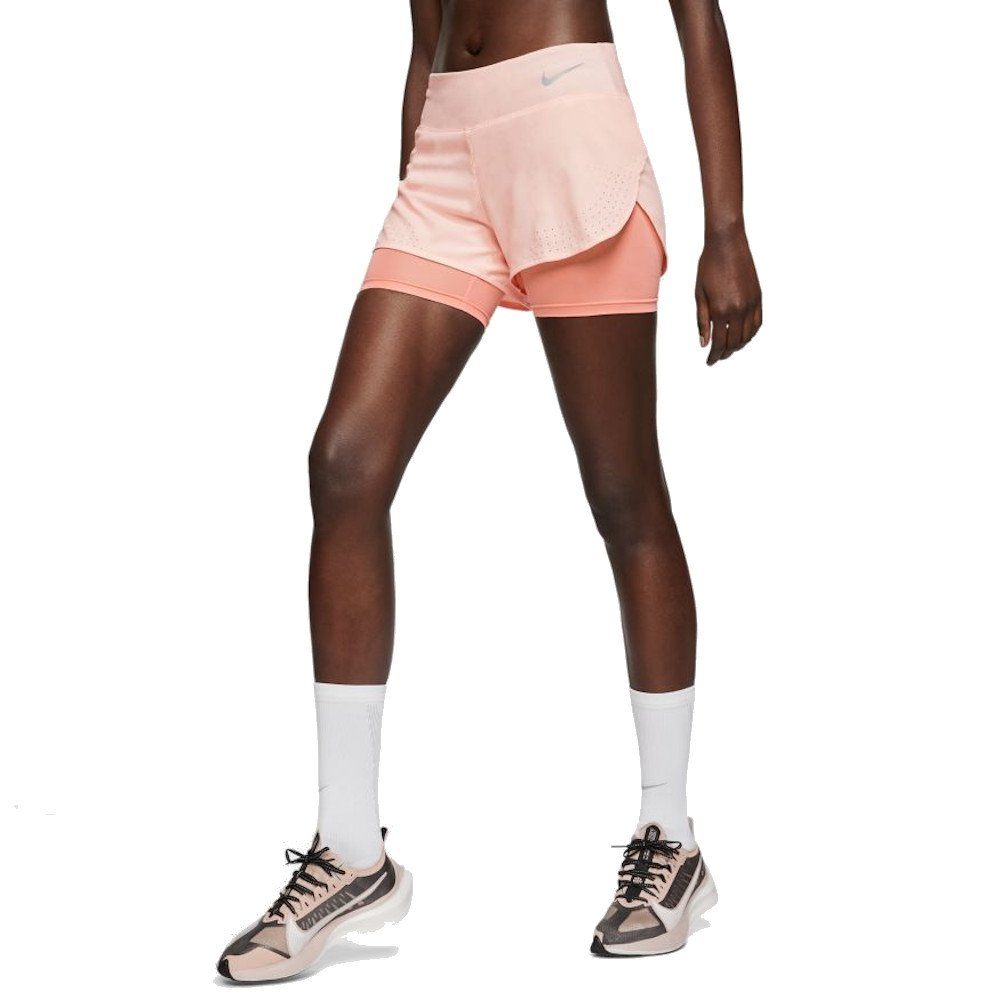 nike eclipse 2in1 short w pudrowe