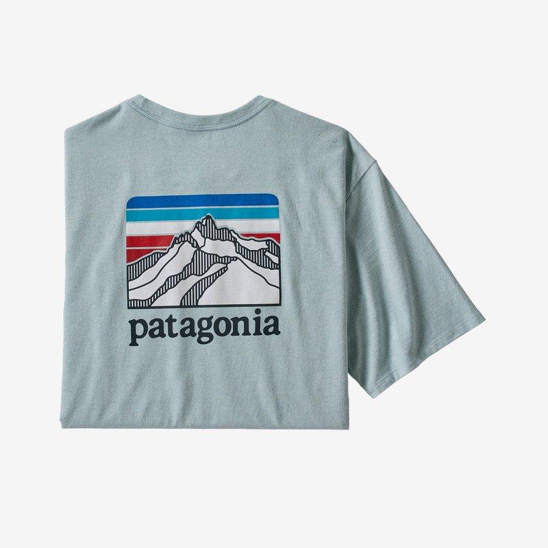 patagonia men's line logo ridge pocket responsibili-tee® (38511-bsbl)