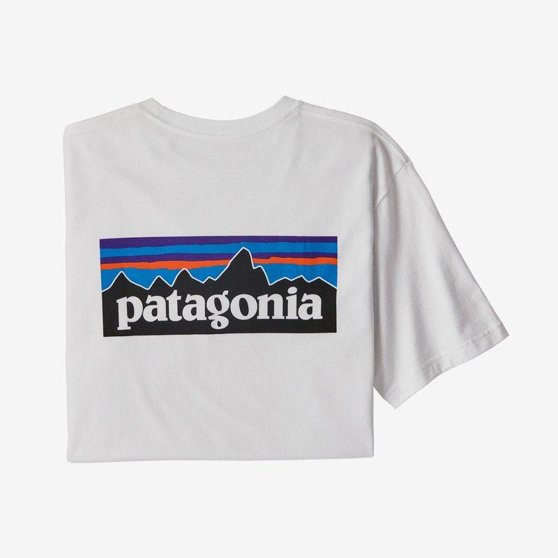 patagonia men's p-6 logo responsibili-tee® (38504-whi)