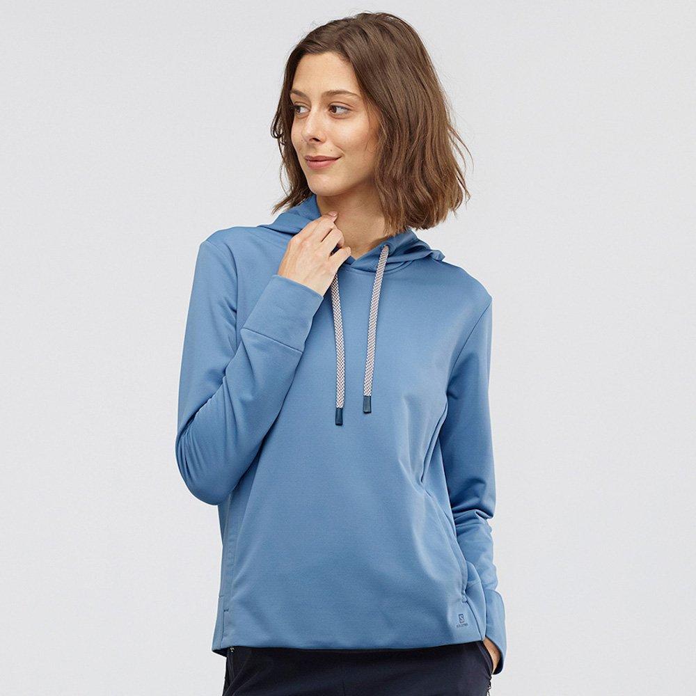 salomon comet mid hoodie w niebieska