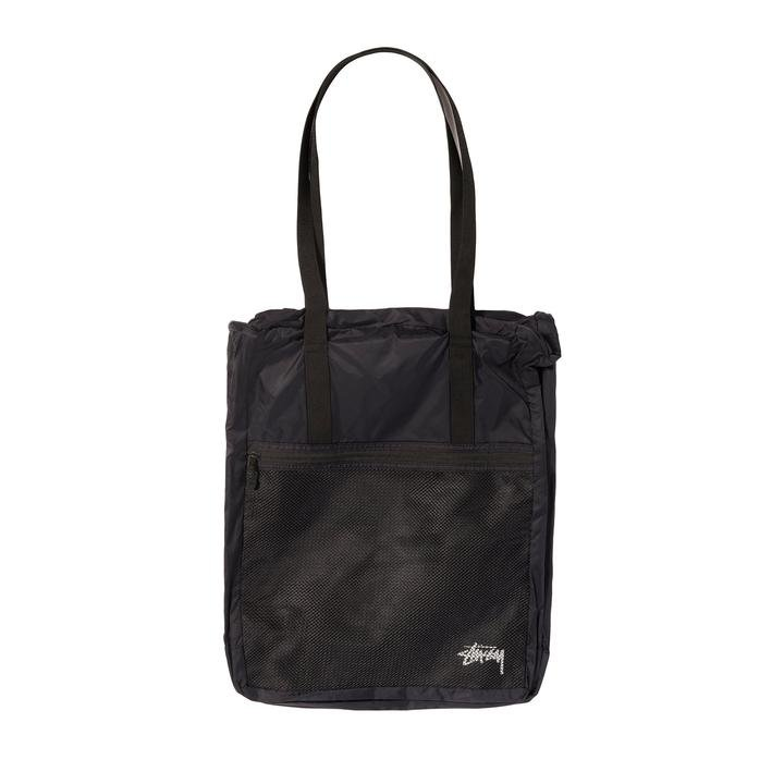 stussy light weight travel tote bag (134224-0001)
