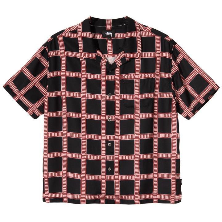 stussy <br/><b>hand drawn plaid shirt</b> <br/>(1110117-0001)