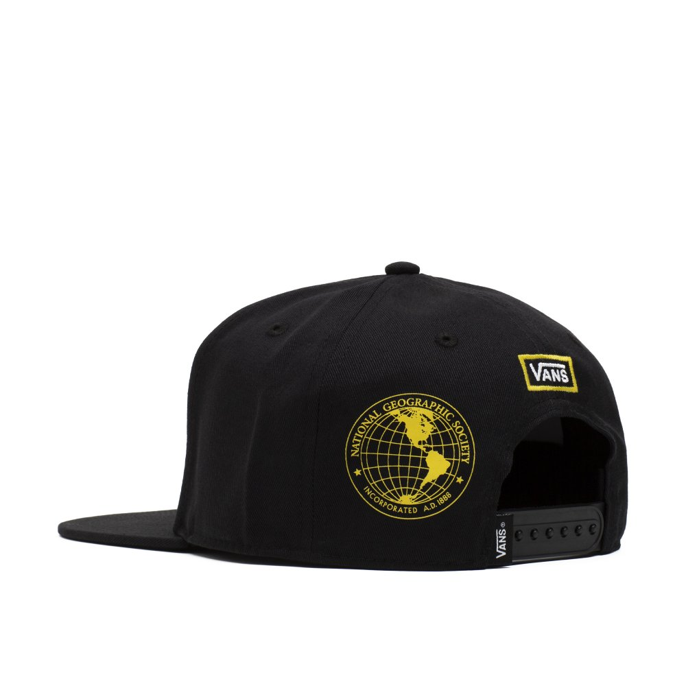 vans x national geographic snapback cap (vn0a4mp6blk)